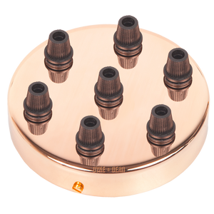 COPPER 7 WAY CABLE CEILING ROSE - CEILING ROSES - DYKE & DEAN  - Homewares | Lighting | Modern Home Furnishings
