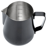 BLACK COFFEE MILK FROTHING JUG & PITCHER 600ML
