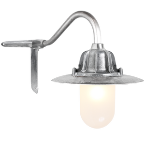 CORNER SWAN NECK SHADED FROSTED LANTERN - BATHROOM / OUTDOOR LIGHTS - DYKE & DEAN  - Homewares | Lighting | Modern Home Furnishings