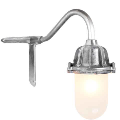 CORNER SWAN NECK LANTERN FROSTED GLASS