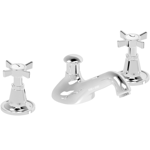 WASH BASIN SET SPOUT CROSS TAPS