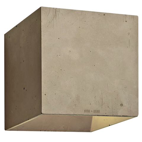 CONCRETE WALL LAMP BROWN