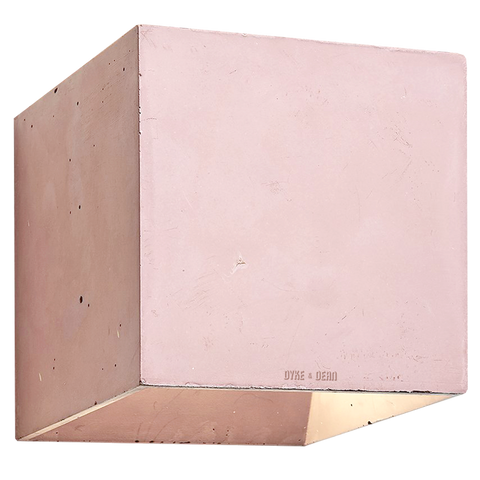 CONCRETE WALL LAMP BURGUNDY