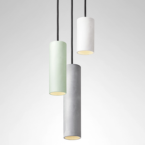 CONCRETE CYLINDER PENDANTS SHORT