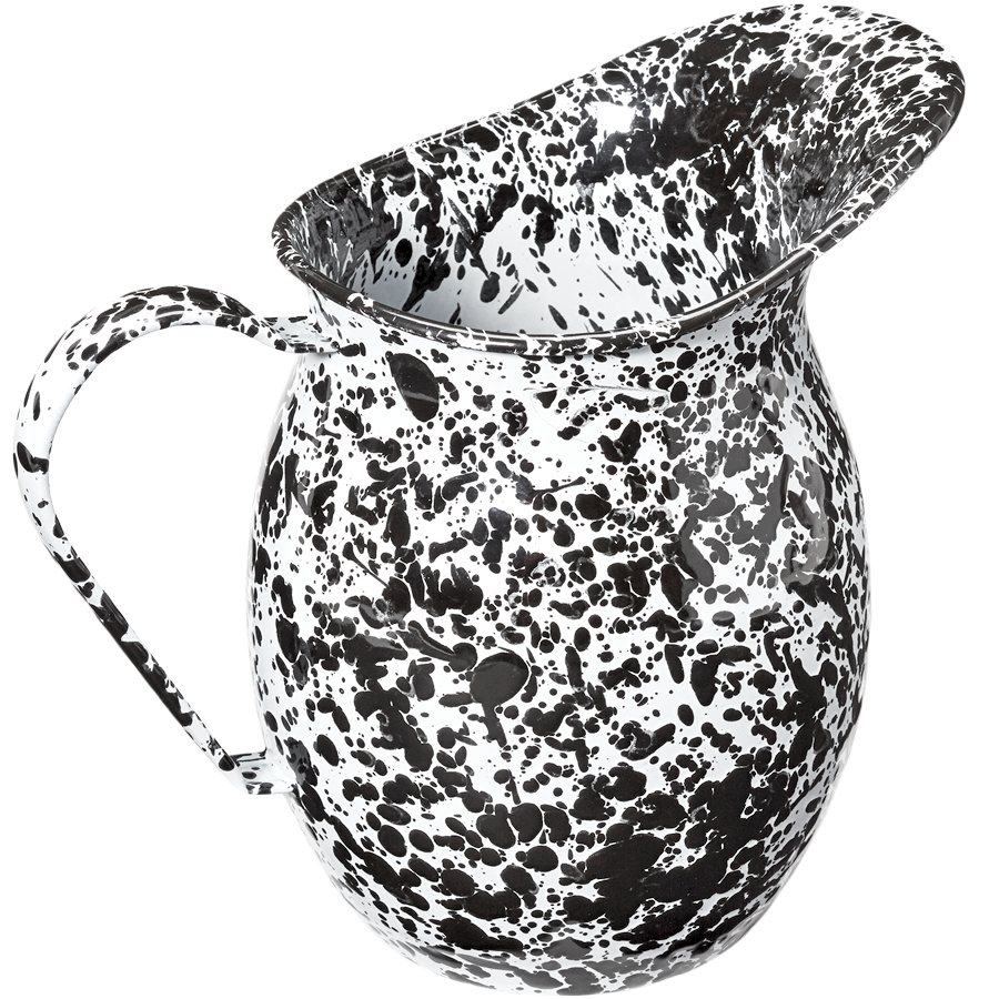 BLACK SPLATTERWARE PITCHER