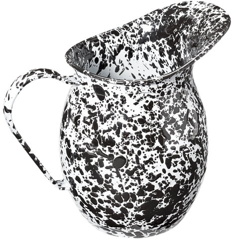 BLACK SPLATTERWARE PITCHER - KITCHENWARE - DYKE & DEAN  - Homewares | Lighting | Modern Home Furnishings