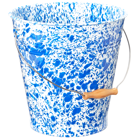 GIANT PAIL BLUE SPLATTERWARE
