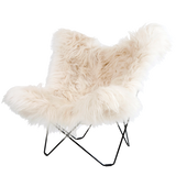 CUERO BUTTERFLY CHAIR LONG WHITE SHEEPSKIN