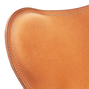 CUERO FLYING GOOSE STOOL TAN LEATHER - LOUNGE CHAIRS - DYKE & DEAN  - Homewares | Lighting | Modern Home Furnishings
