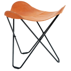 CUERO FLYING GOOSE STOOL TAN LEATHER