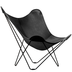 CUERO BUTTERFLY CHAIR BLACK LEATHER