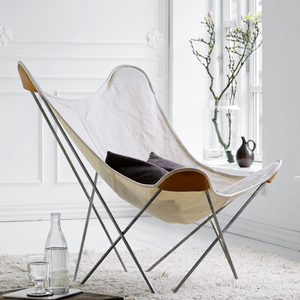 CUERO BUTTERFLY CHAIR BLACK CANVAS - LOUNGE CHAIRS - DYKE & DEAN  - Homewares | Lighting | Modern Home Furnishings