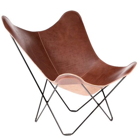 CUERO BUTTERFLY CHAIR CHOCOLATE LEATHER