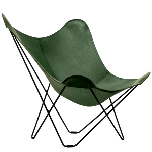 CUERO BUTTERFLY CHAIR GREEN LEATHER