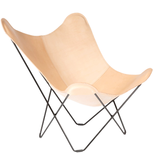 CUERO BUTTERFLY CHAIR NATURAL LEATHER