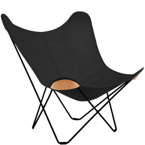 CUERO BUTTERFLY CHAIR BLACK CANVAS