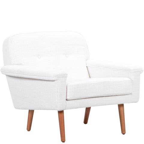 DANISH ARMCHAIR WHITE