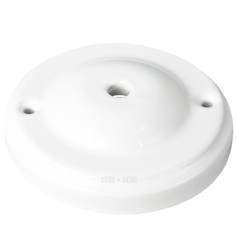 DOME STYLE WHITE CERAMIC CEILING ROSE