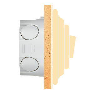 PORCELAIN WALL LIGHT SWITCH SALMON ROTARY - PORCELAIN WALL SWITCHES - DYKE & DEAN  - Homewares | Lighting | Modern Home Furnishings