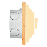 PORCELAIN WALL SWITCH ASH GREY DOUBLE