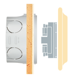 PORCELAIN WALL SOCKET ASH GREY UK
