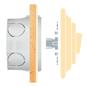 PORCELAIN WALL SWITCH GOLD DOUBLE