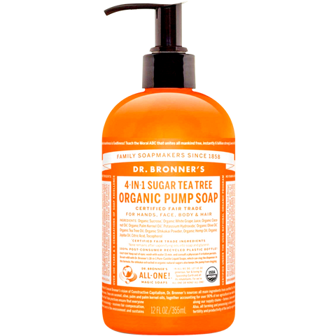 ORGANIC PUMP SOAP TEA TREE 355ml
