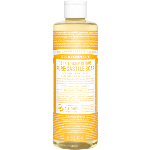 CITRUS PURE-CASTILE LIQUID SOAP 237ml