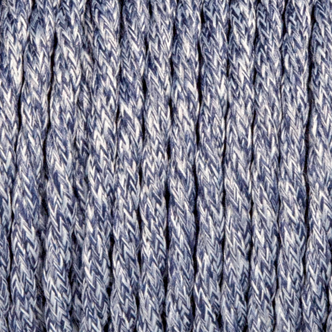 DENIM BLUE TWISTED FABRIC CABLE