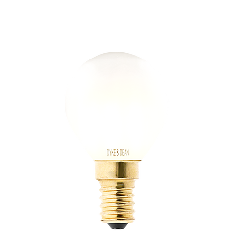 DYKE & DEAN LED FILAMENT GOLF BALL FROSTED E14 BULB