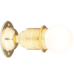 BRASS FIXED E27 WALL BULB HOLDER