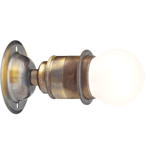 BRUSHED BRASS FIXED SCREW E27 WALL BULB HOLDER