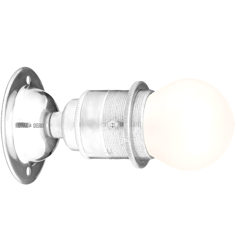 CHROME FIXED E27 WALL BULB HOLDER