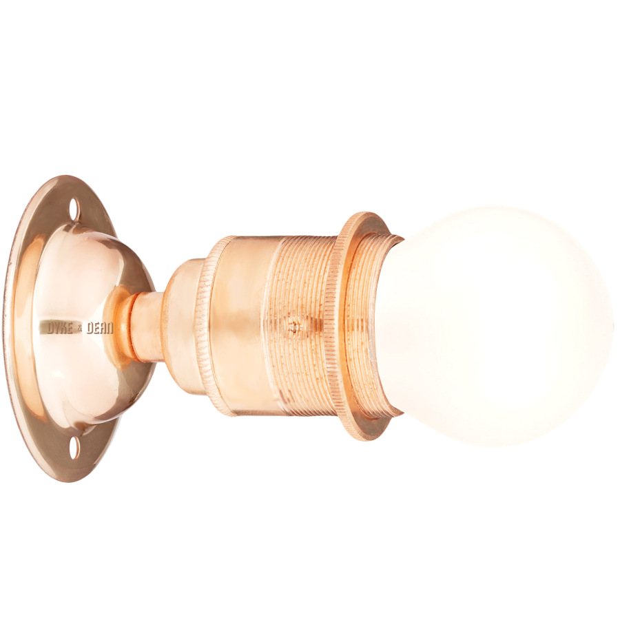COPPER PLATED FIXED E27 WALL BULB HOLDER - WALL LIGHTS - DYKE & DEAN  - Homewares | Lighting | Modern Home Furnishings
