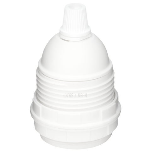 CLAMP SHADE RINGS WHITE E27 BULB HOLDER