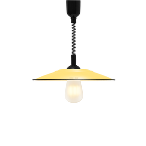 FLAT CUSTARD ENAMEL RETRACTABLE CORD LAMP