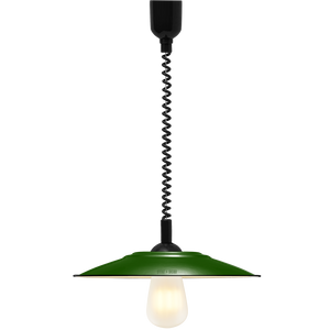 FLAT GREEN ENAMEL RETRACTABLE CORD LAMP