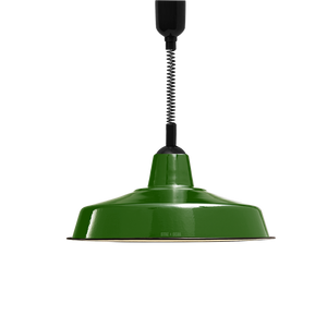 LARGE GREEN ENAMEL RETRACTABLE CORD LAMP