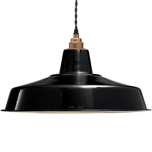 LARGE BLACK ENAMEL SHADE