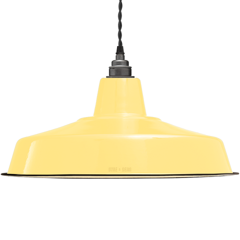 LARGE CUSTARD ENAMEL SHADE - LAMPSHADES - DYKE & DEAN  - Homewares | Lighting | Modern Home Furnishings