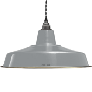 LARGE STORM GREY ENAMEL SHADE
