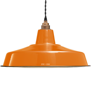 LARGE ORANGE ENAMEL SHADE