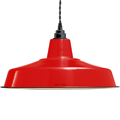 LARGE RED ENAMEL SHADE