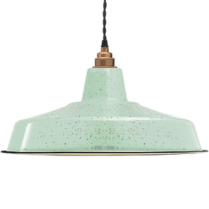 LARGE MINT GREEN SPECKLE ENAMEL SHADE