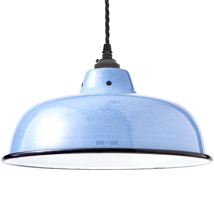 ENAMEL BLUE NECK VENT SHADE