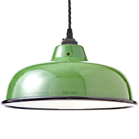 ENAMEL GREEN NECK VENT SHADE