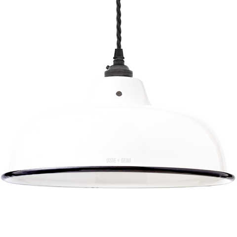 ENAMEL WHITE NECK VENT SHADE