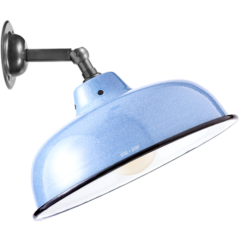 BLUE NECK VENT SHADE WALL LAMP