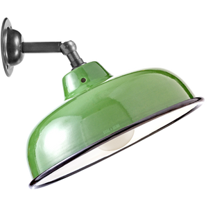 GREEN NECK VENT SHADE WALL LAMP