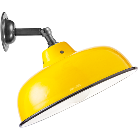 YELLOW NECK VENT SHADE WALL LAMP